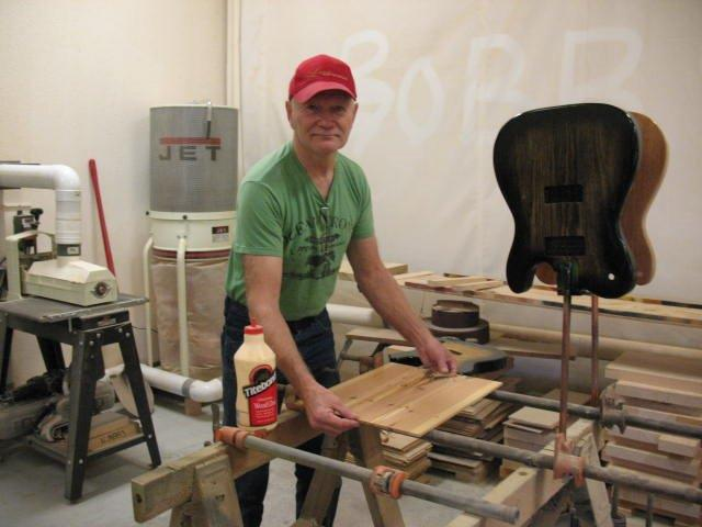 Bob Logan working on a Custom Guitar